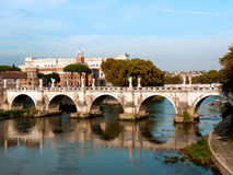 Rome, Sant'Angelo bridge. Ponte Sant'Angelo on the Tevere river, Rome, Italy royalty free stock photography