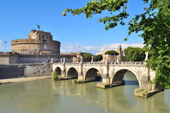 Rome. Sant'Angelo Bridge Stock Images