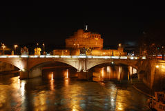 (Rome) Sant'Angelo Castle and Bridge Stock Image