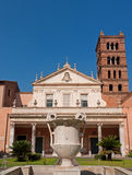 Rome, Santa Cecilia in Trastevere church. Santa Cecilia in Trastevere is one of the oldest churches of Rome royalty free stock image