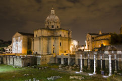 Rome - Santi Luca e Martina church and Roman Forum Stock Photo