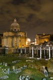 Rome - Santi Luca e Martina church and Roman Forum royalty free stock images