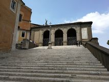 Rome - Scale of the Capitoline Arce. Rome, Lazio, Italy - June 28, 2017: Staircase of the Capitoline Capitol from the Capitol Square leads to the Victorian Stock Images