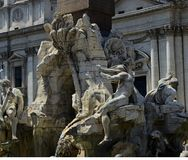 Rome sculpture, Italy, Summer time Stock Images