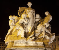 Rome - Sculpture from Vittorio Emanuele bridge Stock Photo