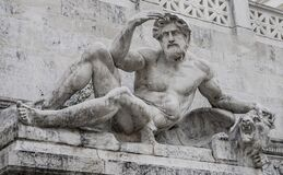 Rome sculptures, Italy Stock Images