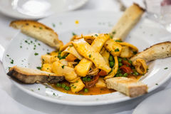 Rome seafood plate Royalty Free Stock Photos