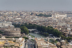 Rome seen from St. Peter's Basilica Stock Photography