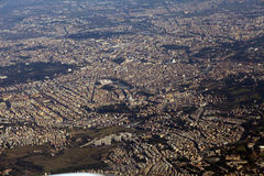 Rome seen from the window of my airplane Stock Photography