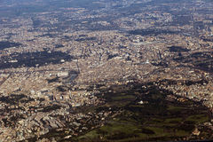 Rome seen from the window of my airplane Royalty Free Stock Image