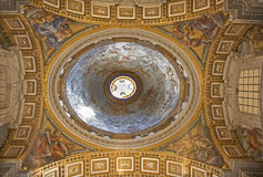 Rome - side cupola of st. Peter s basilica Royalty Free Stock Images