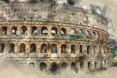 Rome sightseeing - the amazing Colosseum Stock Image