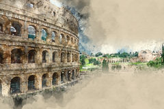Rome sightseeing - the amazing Colosseum Stock Photos