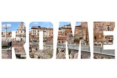 Rome sign royalty free stock photography