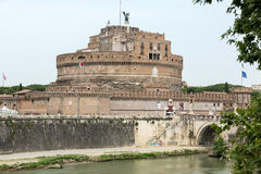 Rome - sikt av Castel Sant ' Angelo, Royaltyfria Bilder