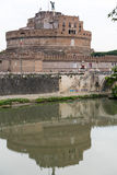 Rome - sikt av Castel Sant ' Angelo, Arkivfoton