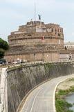 Rome - sikt av Castel Sant ' Angelo, Arkivfoto