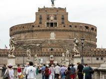 Rome - sikt av Castel Sant ' Angelo, Royaltyfria Foton