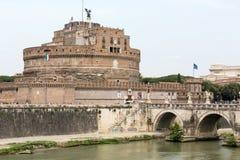 Rome - sikt av Castel Sant ` Angelo, Royaltyfria Bilder
