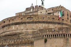 Rome - sikt av Castel Sant ` Angelo, Arkivfoto