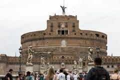 Rome - sikt av Castel Sant ` Angelo Arkivfoto