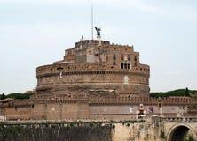 Rome - sikt av Castel Sant ` Angelo, Arkivfoton