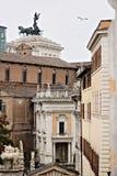 rome Sikt av Kapitoliumbyggnaden och Vittorianoen På alen fotografering för bildbyråer