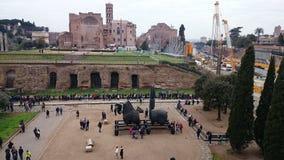 Rome sikt från Colosseumen Arkivbild