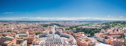 Rome sikt från den Sanka Peter Basilica Royaltyfria Foton