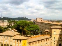 Rome sikt från den Sanka Peters Cathedral Royaltyfri Fotografi