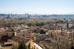 Rome sikt från Trastevere Arkivfoto