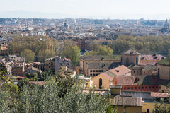 Rome sikt från Trastevere Royaltyfri Bild
