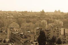 Rome sikt från Trastevere Royaltyfri Fotografi