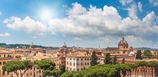 Rome sikt på solig dag Fotografering för Bildbyråer