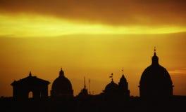 rome silhouette Arkivbilder
