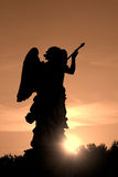 Rome - silhouette of angel Royalty Free Stock Photography