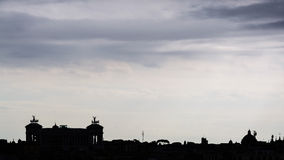 Rome Silhouette Royalty Free Stock Photography