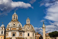 Rome skyline in city center Stock Photography