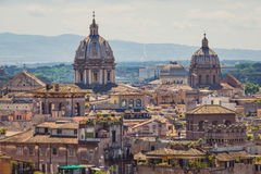 Rome skyline cityscape as see from Castle San Angelo Stock Photo