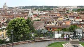 Rome skyline Italy stock footage