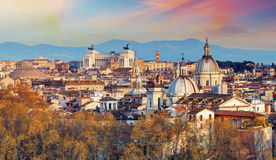 Rome - skyline, Italy Royalty Free Stock Photography