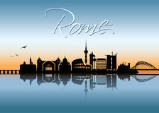 Rome skyline - Italy - vector illustration Stock Image