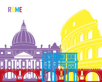 Rome skyline pop. In editable vector file Royalty Free Stock Photography