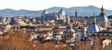 Rome skylline. Panoramic view from sant.Angelo castle of Rome Stock Photos