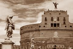 Rome slotthelgonängel Arkivbild