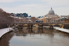 Rome with snow stock images