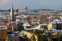 Rome with snow. Stock Photo