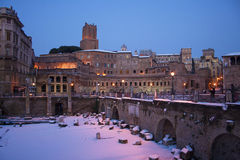 Rome in the snow Stock Photography