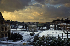 Rome in Snow Royalty Free Stock Image