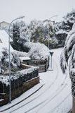 rome snowgata under Arkivfoton